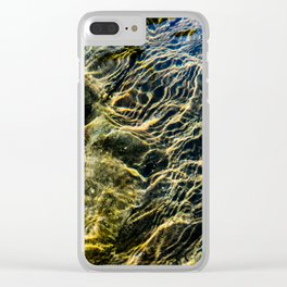 Ripples on River Rocks Clear iPhone Case