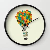 pixar Wall Clocks featuring Never give UP by I Love Doodle