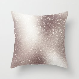 Beautiful Elegant Champagne Glitter Throw Pillow