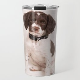 Brittany Puppy Sitting Travel Mug