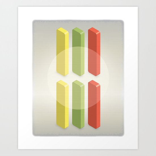Candycounting Art Print