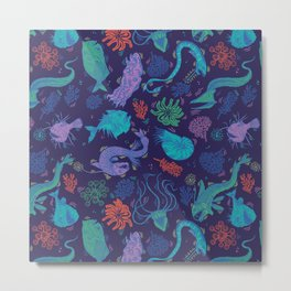 Creatures Of the Deep Sea Metal Print