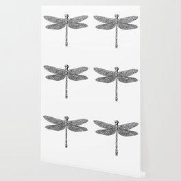 Dragonfly Vintage Illustration Wallpaper