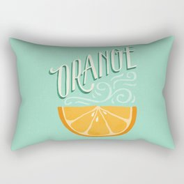 Orange Rectangular Pillow
