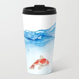 Happy koi fish- fishes sea water lake Travel Mug