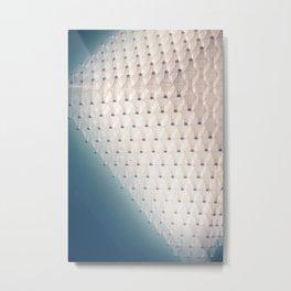 White Glass Metal Print
