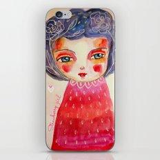 Strawberry girl iPhone & iPod Skin