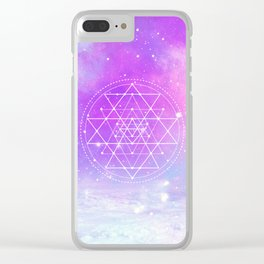 Sacred Geometry (Sri Yantra) Clear iPhone Case