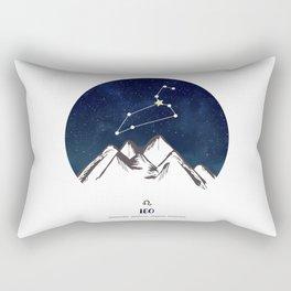 Astrology Leo Zodiac Horoscope Constellation Star Sign Watercolor Poster Wall Art Rectangular Pillow