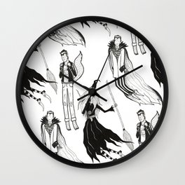 Happy Monsters (in white) Wall Clock