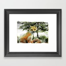P.E.I. Red Fox Framed Art Print