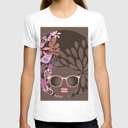 Afro Diva : Sophisticated Lady Pink Taupe Lavender T-shirt