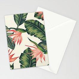 Palm Leaf & Flower Print Stationery Cards