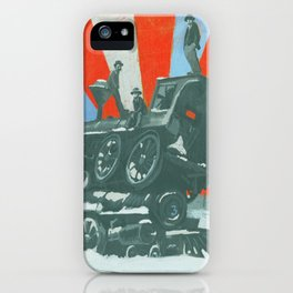 SABOTAGE! - Winter Train Wreck iPhone Case
