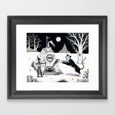 Night Attack Framed Art Print