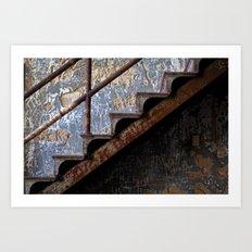 Graffiti Stairs Art Print