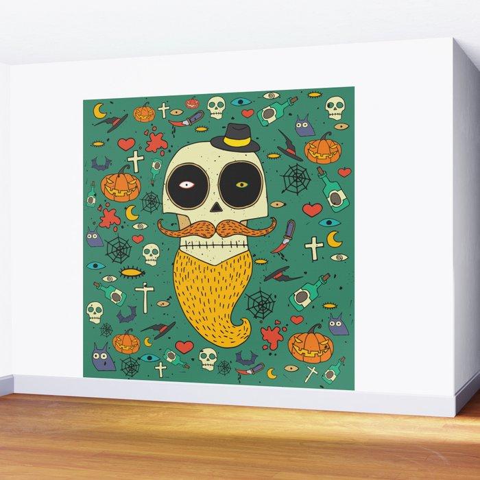 Halloween Wall Mural by ariadnas Society6
