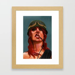 Smoking Cables Framed Art Print
