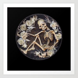 In Memoriam Skeleton  Art Print