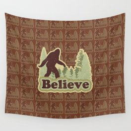 Bigfoot Believe Wall Tapestry