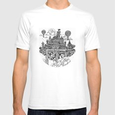 Floating city MEDIUM Mens Fitted Tee White
