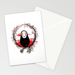 Evil Without Face Stationery Cards