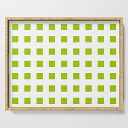 square and tartan 49- green Serving Tray