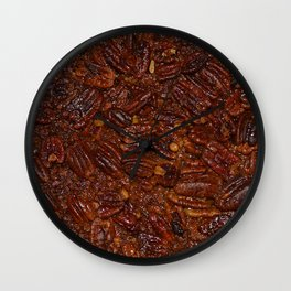 pecan pie Wall Clock