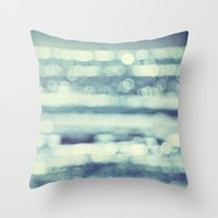 blur Throw Pillows featuring blur by Bonnie Jakobsen-Martin