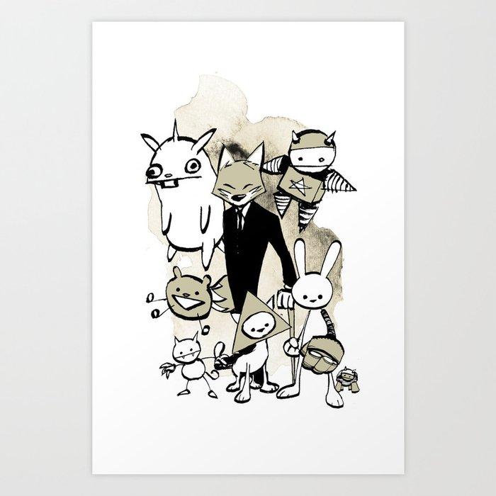 minima - dapper fox Art Print