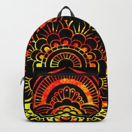 Fiery Sun Mandala Backpack
