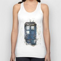 tardis Tank Tops featuring Tardis by Abbie :)