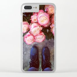 FeetFlowers3 Clear iPhone Case