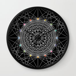 Geometric Circle Black/White/Colour Wall Clock