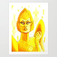 ♦YELLOW DIAMOND♦ Art Print