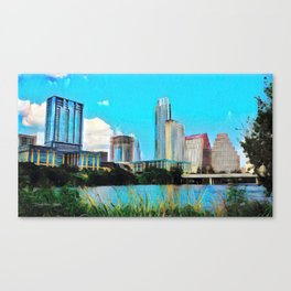 Austin, Texas - 2010 - Graphic 1 Canvas Print