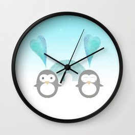 Artic hearts Wall Clock