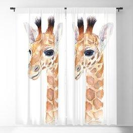 Baby Giraffe Cute Animal Watercolor Blackout Curtain