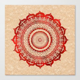 omulyána red gallery mandala Canvas Print