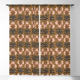 Shades of Autumn - Floral Blackout Curtain