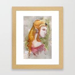 Princess Zelda Framed Art Print