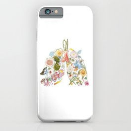 Floral art in a lung format. For smart people. Only fresh air inside. iPhone Case