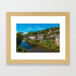 Village Of Iron Bridge Framed Art Print