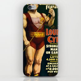 Louis Cyr, Strongest Man on Earth iPhone Skin