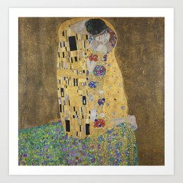 Gustav Klimt, The Kiss (Lovers), 1908 - Reproduction under Belvedere, Vienna, Creative Commons License CC BY-SA 4.0 Art Print