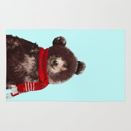 Baby bear in Christmas Mood Rug