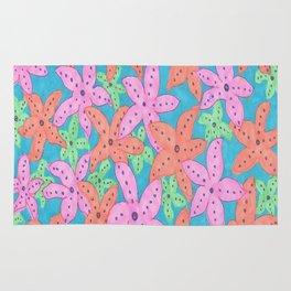 Tropical Starfish Print Rug