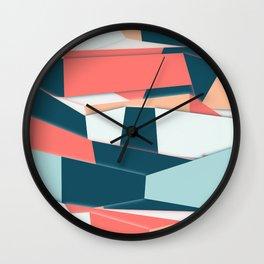 Geometric Abstract Colorful Art Retro Pattern Wall Clock