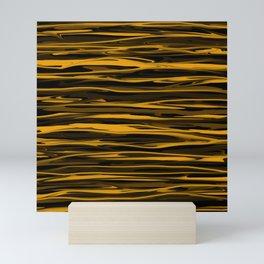 Golden Honey Drizzle Mini Art Print