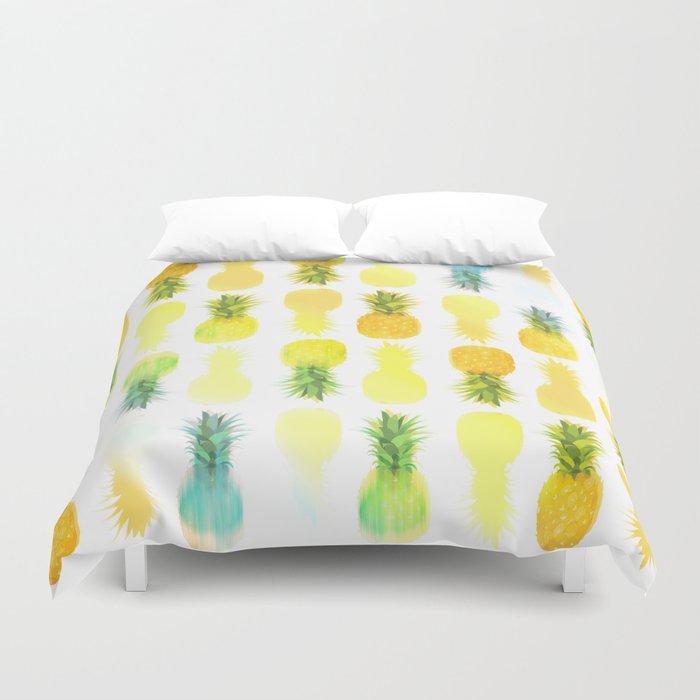 Pineapple Glow Duvet Cover